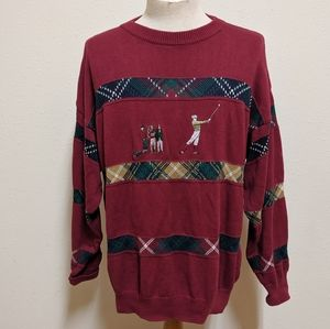 Vintage golf izod sweater 100%cotton men large